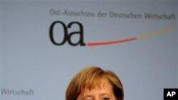 ທ່ານນາງ Angela Merkel ນາຍົກລັດຖະມຸນຕີເຢຍຣະມັນ ທີ່ນະຄອນ Berlin ວັນທີ 14 ຕຸລາ 2010