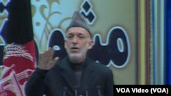 ولسمشر کرزی وايي د سیمي ځيني هېوادونه افغانستان د سولې راوستو مخنیوی کوي