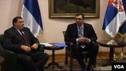 ARHIVA - Predsednici Srbije i Republike Srpske, Aleksandar Vučić i Milorad Dodik