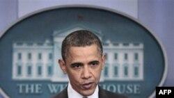 Президент США Барак Обама. Белый дом. Вашингтон. 5 апреля 2011 года