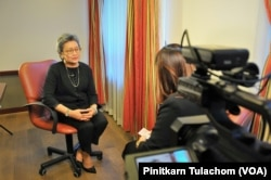 Thailand's Minister of Commerce Apiradi Tantraporn talks with VOA Thai during her visits in Washington, DC. Oct 4, 2017.
