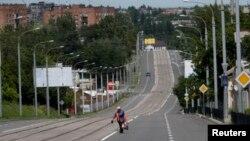Puste ulice Donjecka