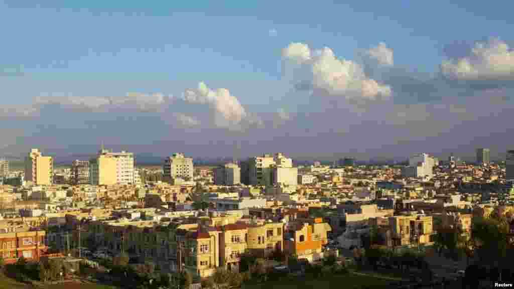 چشم اندازی از شهر اربیل در عراق.