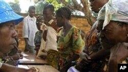 Distribution de vivres par le PAM, à Bangui