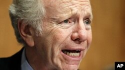Senator Joseph Lieberman, one of the lawmakers speaking out on the scandals (file photo).