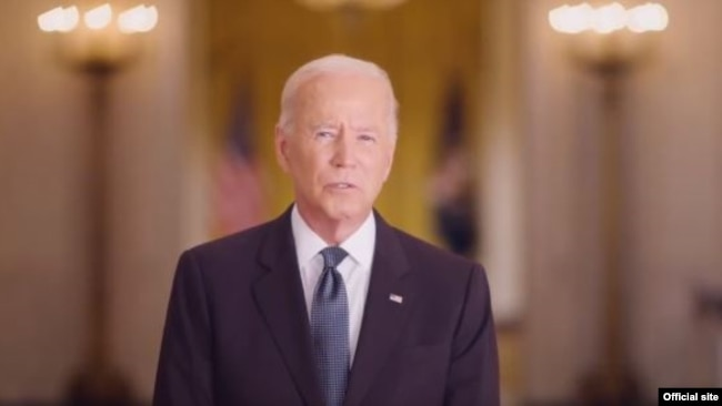 El presidente de EE. UU., Joe Biden, pronuncia un discruso por el 20 aniversario de los ataques terroristas del 11 de septiembre de 2001. [Captura pantalla TW Casa Blanca]