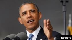 바락 오바마 미국 대통령이 28일 미 육군사관학교 연설에서 새로운 대외정책에 대한 구상을 밝히고 있다.