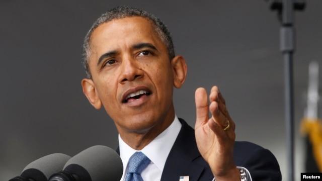 Tổng thống Obama phát biểu tại trường Võ bị Quốc gia Hoa Kỳ ở West Point, New York, 28/5/2014.