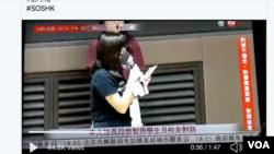 香港中文大學女生控訴港警對被捕人員施以性暴力(網絡截圖)