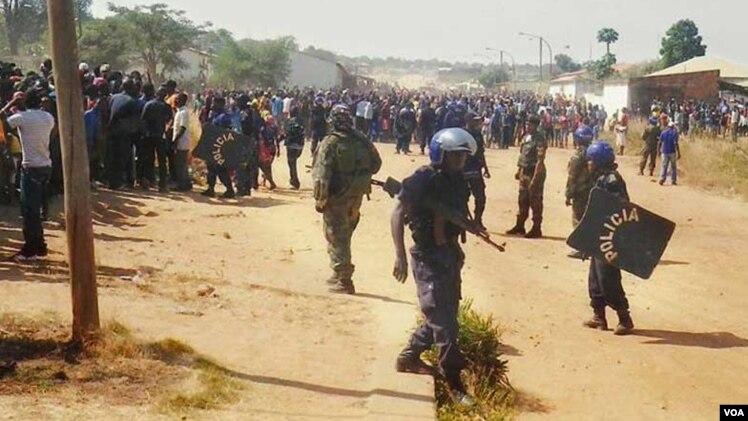 Uma anterior manifestação na Lunda Norte
