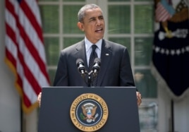 President Barack Obama speaks about Afghanistan at the White House Rose Garden on May 27, 2014.