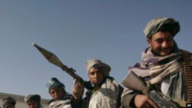 Taliban fighters (undated photo)