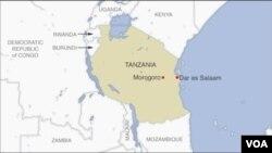 Ramani ikionyesha eneo la Kenya na Tanzania