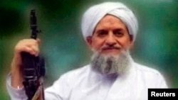 File - A photo of al-Qaida leader Ayman al-Zawahiri taken from a video released in September 2011.