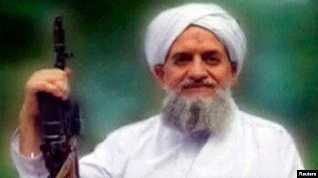FILE - A photo of al-Qaida's leader, Ayman al-Zawahiri, is seen in this still image taken from a video released in September 2011. The leader of al-Qaida has called for attacks on Saudi Arabia after the kingdom's mass execution of 47 people in January.