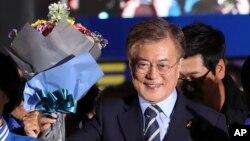 南韓總統文在寅。(資料圖片)