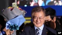 Presiden baru Korea Selatan Moon Jae-in di Seoul, Korea Selatan (Foto: dok).