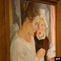 Картина Бориса Григорьева «Мать и дитя»