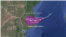 Projected path of tropical storm Dineo.