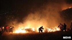 آتش سوزی در جنگل آبیدر