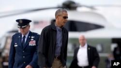 오바마 대통령이 6월 6일 G7 정상회의에 참석하기 위해 독일로 떠나는 모습.