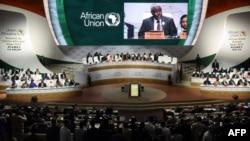 အာဖရိက သမဂၢရဲ႕ ေကာ္မရွင္ ဥကၠဌ Moussa Faki မိန္႔ခြန္းေျပာစဥ္