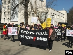 Mirna šetnja aktivista, Osmomartovski marš, Banja Luka, 08.03.2021.