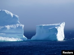 "The first iceberg of the season passes the South Shore, also known as ""Iceberg Alley"", near Ferryland Newfoundland, Canada April 16, 2017. Picture taken April 16, 2017. REUTERS/Jody Martin"