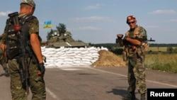 Ukrajinski stražari u oblasti Donjeck, 2. avgust 2014.