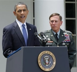 President Obama announcing the replacement of General McChrystal with General David Petraeus