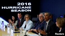 El presidente Obama visitó la Agencia Federal para el Manejo de Emergencias, FEMA.