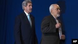 Джон Керри и министр иностранных дел Ирана Джавад Зариф