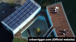 Model plutajućih stanova u luci u Kopenhagenu (pogled odozgo)