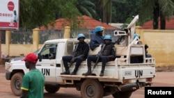 Capacetes azuis em Bangui