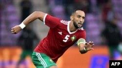Le joueur vedette du Maroc Mehdi Benatia à Genève, le 31 mai 2018.