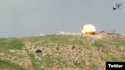 ISIS video showing its militants hitting a Turkish tank with a anti-tank missile in northern Syria