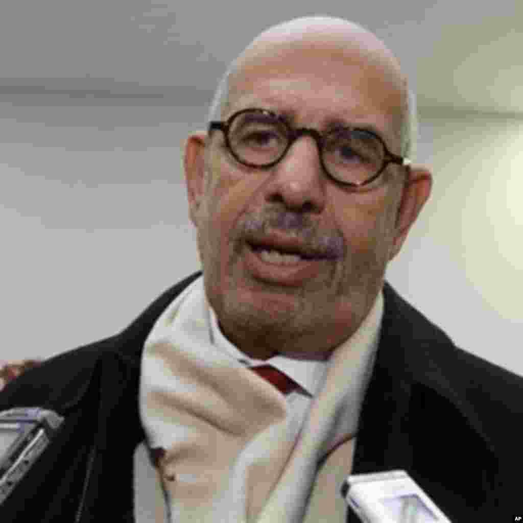 L'ancien directeur général de l'AIEA, Mohamed ElBaradei.