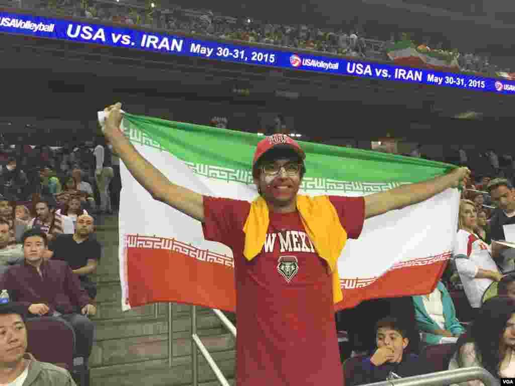 حاشیه های دیدار تیم های والیبال ایران و آمریکا