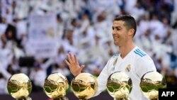 Cristiano Ronaldo ya lashe kyautar Ballon d'Or sau 5