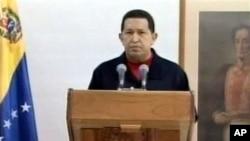 委內瑞拉總統查韋斯透過古巴電視發表演說﹐但不清楚這個演說是否在較早前預先錄