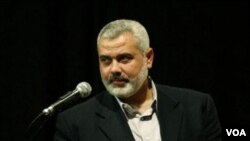 Palestine - Senior Hamas leader Ismail Haniyeh speaks . UNDATED