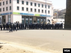 Police have sealed off Harare ahead of the planned MDC protests
