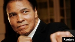FILE - Muhammad Ali was hospitalized December 20 for treatment of a urinary tract infection.