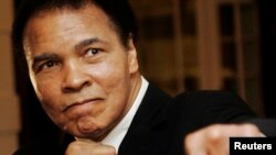 FILE - U.S. boxing great Muhammad Ali. The boxer criticized Republican candidate Donald Trump's comments about Muslims.
