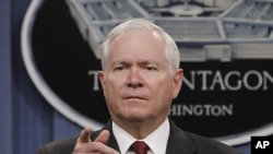 US Defense Secretary Robert Gates (file)