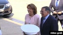 Crnogorska ministarka odbrane Milica Pejanović-Đurišić i američki sekretar odbrane Lion Paneta uoči susreta u Pentagonu