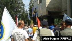 Arhiv - Demobilisani borci pred Parlamentom FBiH