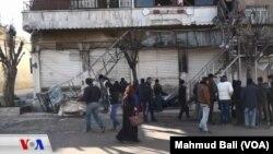 Lokasi restoran di Manbij, Suriah yang terkena serangan bom ISIS hari Rabu (16/1) dan menewaskan 4 tentara AS.