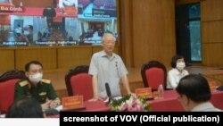 Tổng Bí thư ĐCS VN Nguyễn Phú Trọng gặp cử tri 9/10/2021.