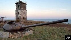 Старые военные укрепления. Южно-Курильск, остров Кунашир.